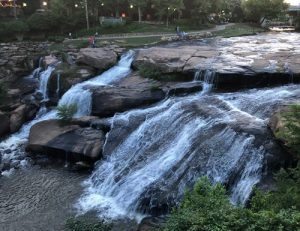 Waterfall at Falls Park on the Reedy
