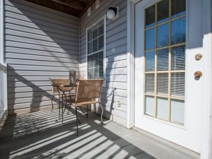 Private balcony or patio at The Willows apartments for rent