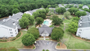 Aerial view of The Willows apartments for rent in Spartanburg, SC