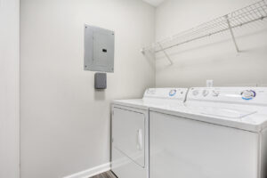 In-unit full-size washer and dryer at The Willows apartments for rent in Spartanburg, SC