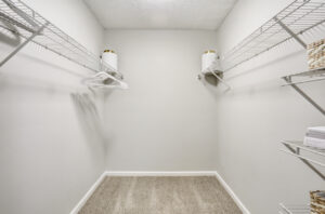 Large walk-in closet at The Willows apartments for rent in Spartanburg, SC